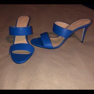 Brand New J.Crew Lena Heeled Slides in Blue